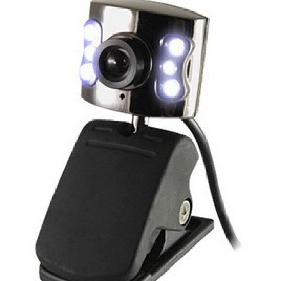 Une webcam avec des LED